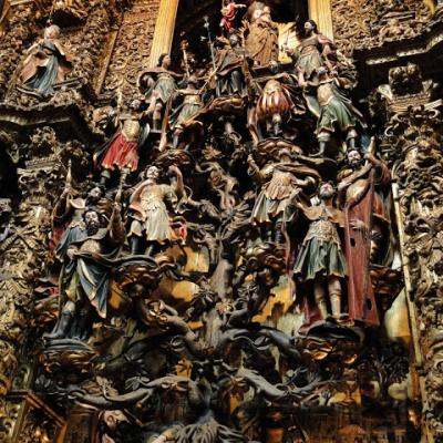 A árvore de Jessé - escultura no interior da Igreja de São Francisco