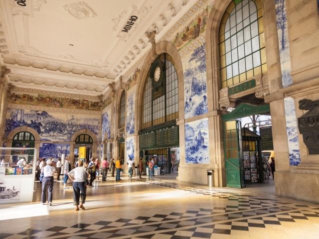 Train station hall of Porto