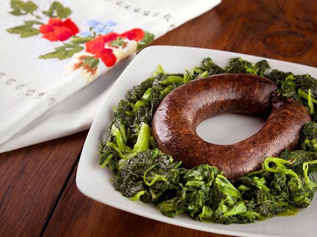 A Alheira - prato típico - no Restaurante Cozinha da Terra